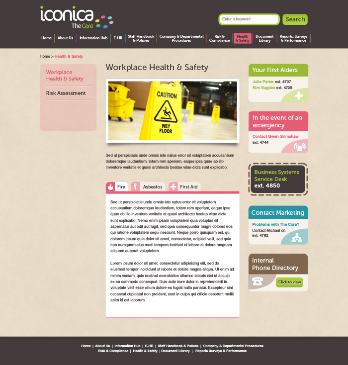 Iconica SubPage